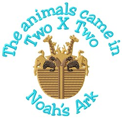 Two X Two Ark embroidery design