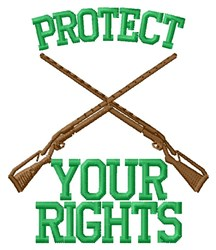 Rifle Rights embroidery design