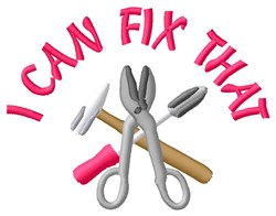 Fixing Tools embroidery design