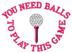 Golfing Balls embroidery design