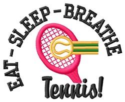 Eat Sleep Tennis embroidery design