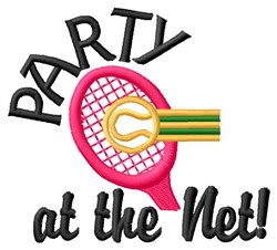 Party At Net embroidery design