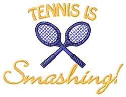 Tennis Smashing embroidery design