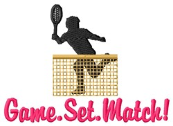 Game Set Match embroidery design