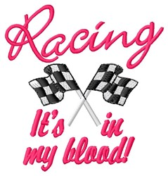 Racing In Blood embroidery design