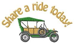 Share A Ride embroidery design