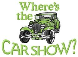Car Show embroidery design