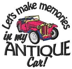 Antique Memories embroidery design