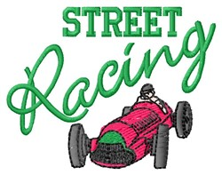 Street Racing embroidery design
