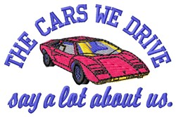 Cars We Drive embroidery design
