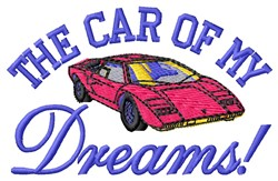 Car Of Dreams embroidery design