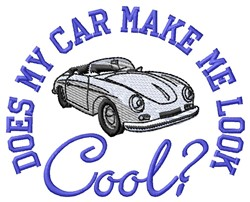 Cool Car embroidery design
