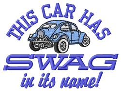 Car Has Swag embroidery design