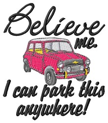 Park Anywhere embroidery design