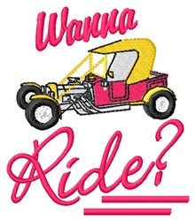 Wanna Ride embroidery design