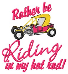 My Hot Rod embroidery design