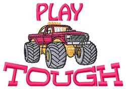 Play Tough embroidery design