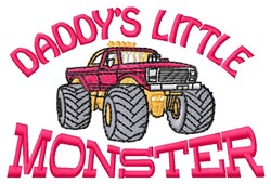 Daddys Monster embroidery design