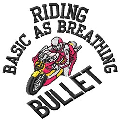 Riding Bullet embroidery design