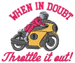 Throttle It embroidery design