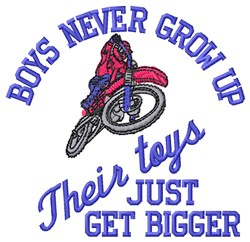 Bigger Toys embroidery design