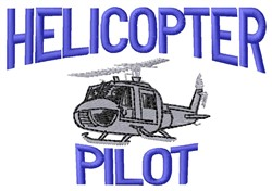 Helicopter Pilot embroidery design