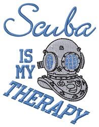 Scuba Therapy embroidery design