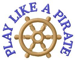 A Pirate embroidery design