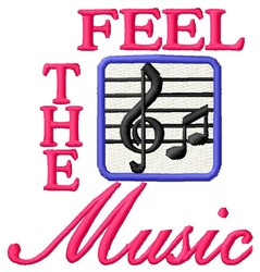 Feel Music embroidery design