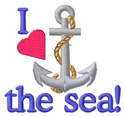 Love The Sea embroidery design
