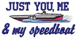 My Speedboat embroidery design