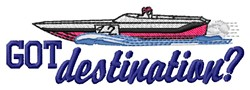 Got Destination embroidery design