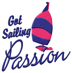 Sailing Passion embroidery design