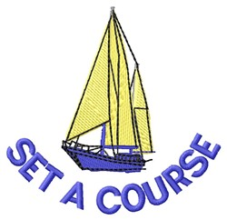 Set A Course embroidery design