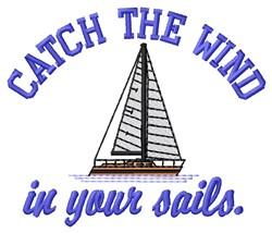 Catch Wind embroidery design