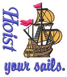 Hoist Sails embroidery design