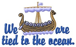 The Ocean embroidery design