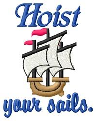 Hoist Your Sails embroidery design