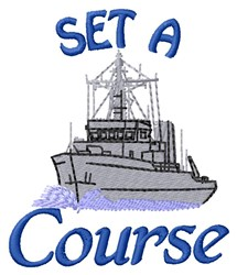 Set Course embroidery design