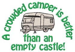 Crowded Camper embroidery design
