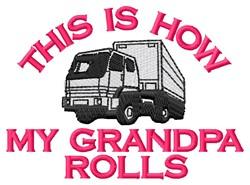 Grandpa Rolls embroidery design