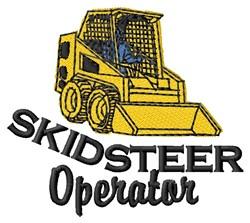 Skidsteer Operator embroidery design