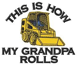 How Grandpa Rolls embroidery design