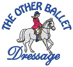 Ballet Dressage embroidery design
