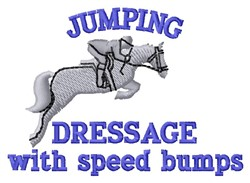 Jumping embroidery design