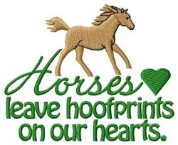 Hoofprints embroidery design