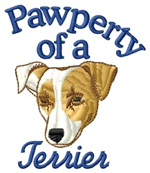 Pawperty Of Terrier embroidery design