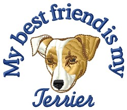 Terrier Friend embroidery design