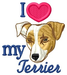 Love My Terrier embroidery design