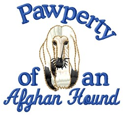 Afghan Pawperty embroidery design